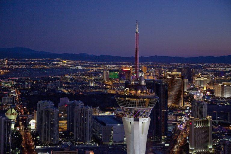Panoramic view of Las Vegas high rise buildings