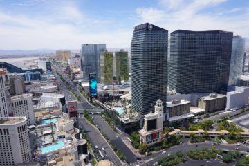 High rise developments on Las Vegas Strip