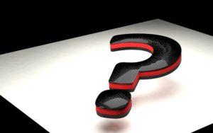 A black question mark